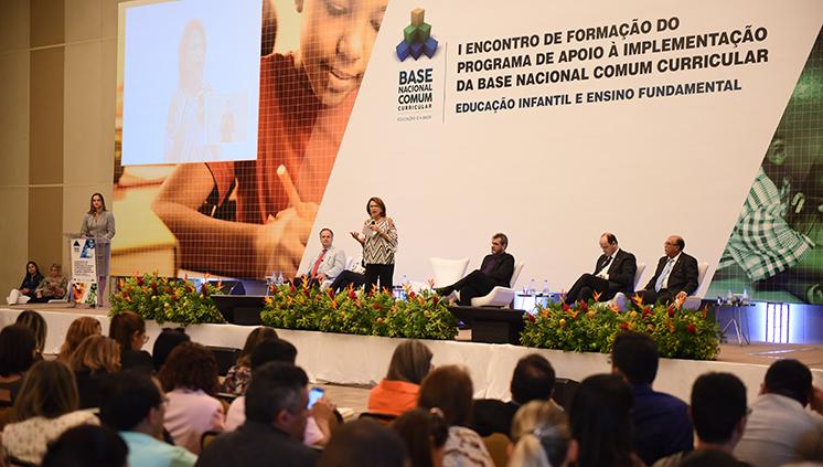 """A secretária executiva do MEC, Maria Helena Guimarães de Castro, destacou o """"casamento feliz entre os três níveis de governo"""" (Foto: Luís Fortes/MEC)"""
